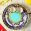 Buy Puja Thali with Diya Set & Dry Fruit Potli