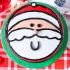 Gift Santa Christmas Fondant Cake (1 Kg)