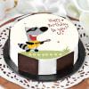 Singing Racoon Birthday Cake (Half Kg) Online