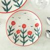 Stoneware Floral Quarter Plate Online