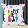 Shop Summer Vibe Pop Colored Birthday Cushion