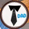 Buy Tie Theme Cake for Dad (Half Kg)