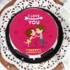 Buy Valentine Kissing Proposal Cake (Half Kg)