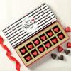 Valentine's Day Heart Shaped Dark Chocolates Online