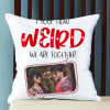 Buy Weird Together Personalized Photo Satin Pillow