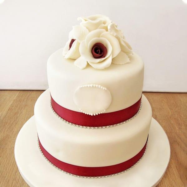 2 Tier Ruby Wedding Anniversary Cake (3.5 Kg)