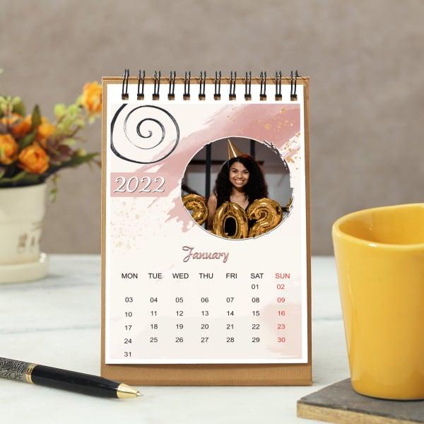 2021 Desk Calendar in Yellow