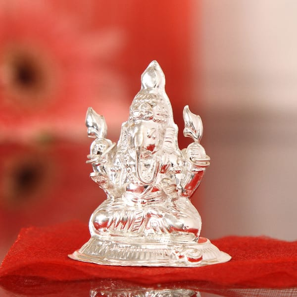 c29e2ad8fd00 Gifts · Home and Living · Home Decor · Religious and Spiritual Idols. 30  Gms Silver Laxmi Ganesha Idol. Previous