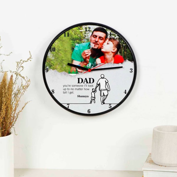 Adorable Dad Personalized Round Wall Clock