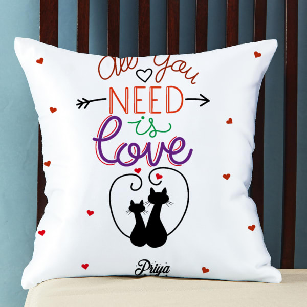 All You Need is Love Personalized Satin Pillow