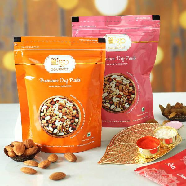Almond & Raisins With Tikka Thali