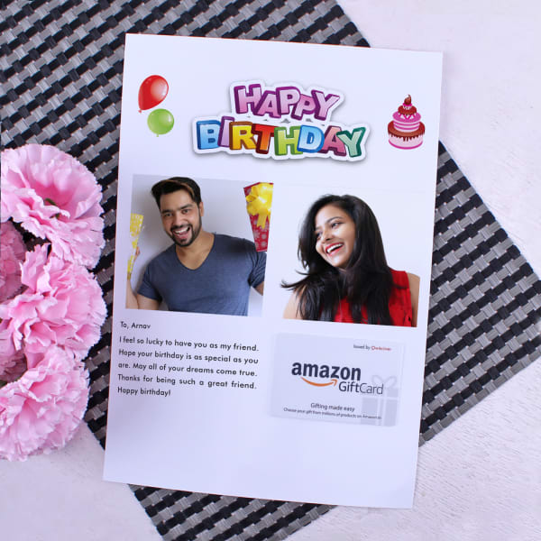 Amazon Gift Card With Personalized Birthday Letter 2000 Send