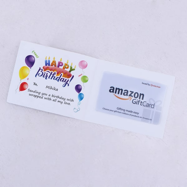 Amazon Personalized Birthday Gift Card 500