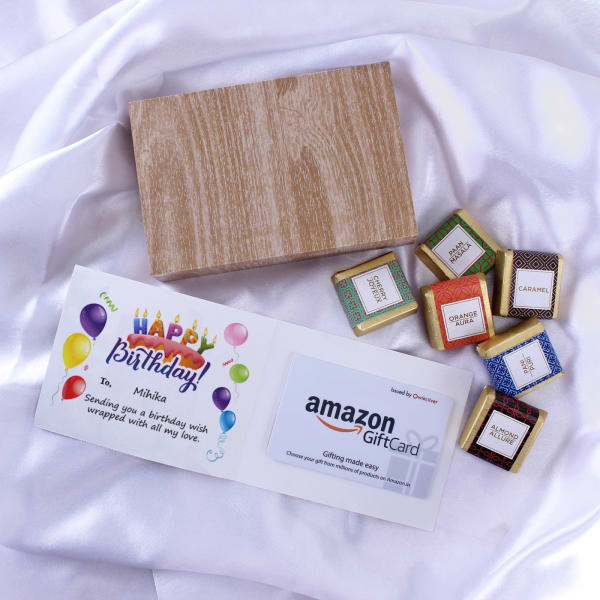 Amazon Personalized Birthday Gift Card With Chocolates 500