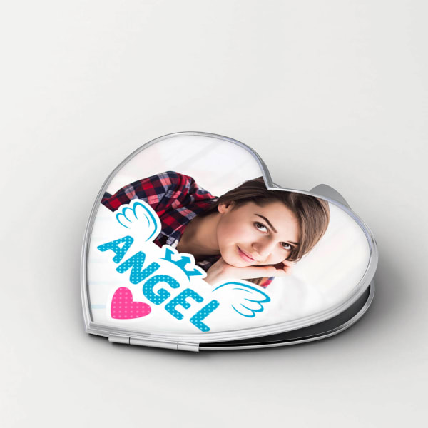 Angel Personalized Compact Mirror