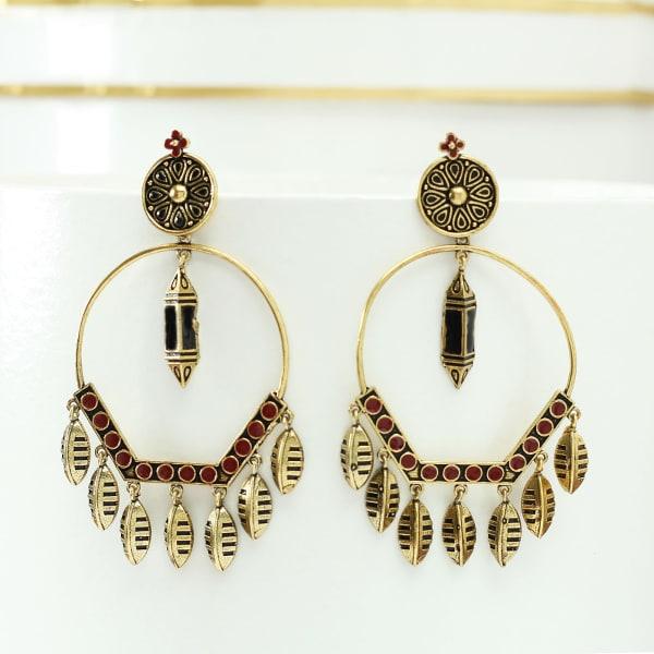 Antique Gold Polish Handmade Earrings