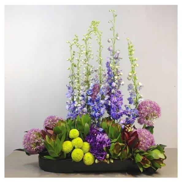 Arrangement of Cut Flowers mauve and purple