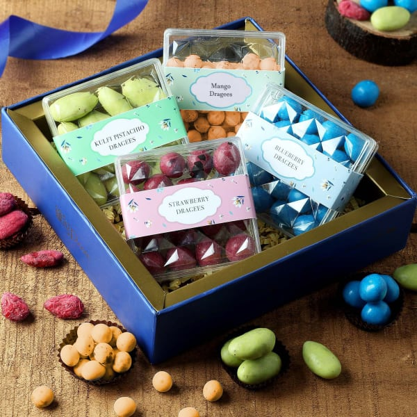Assorted Dragees Mix Flavoured Dry Fruits in Tray