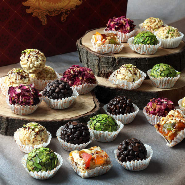 Assorted Dry Fruit Sweets (24 Pcs)