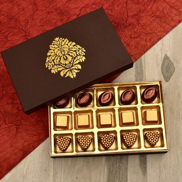 Assorted Milk and  Almonds Dark Chocolates in Box