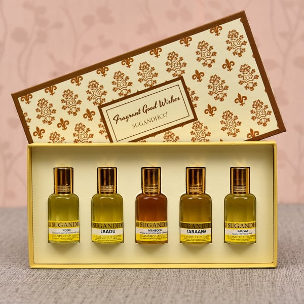Assorted Set of Five Attar Gift Set for Couple