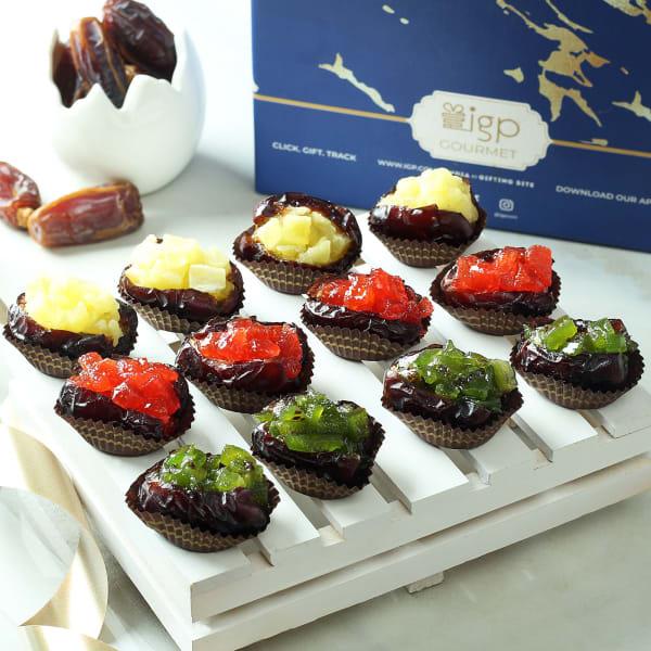 Assortment of Gourmet Mixed Fruit Dates (12 Pcs)