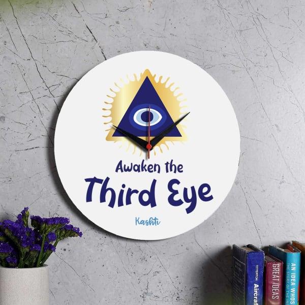 Awakening Third Eye Personalized Wooden Clock