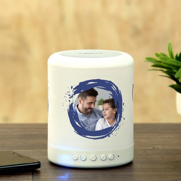 Awesome Dad Personalized Bluetooth LED Speaker