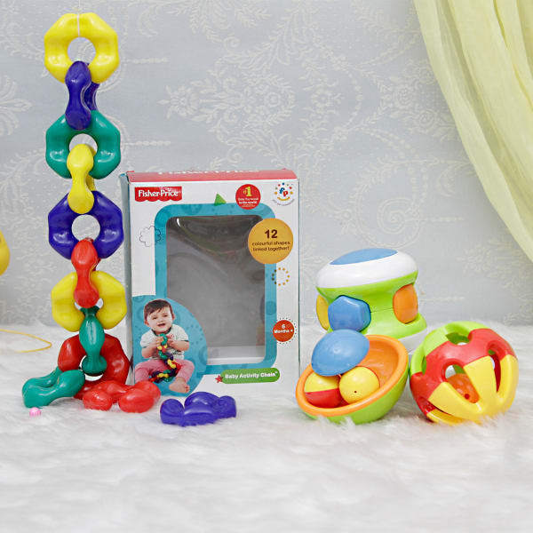 Baby Activity Chain And 3 In 1 Rattles