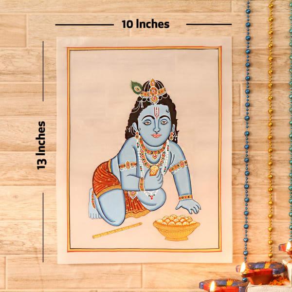 Balgopal Gold Idol Silk Painting