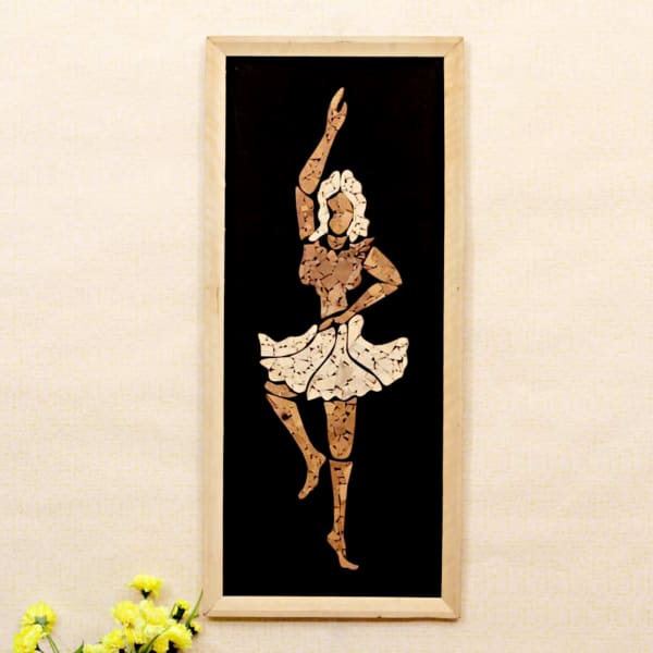 Ballet Dance Big Collage Wooden Relief Painting 27 Inch