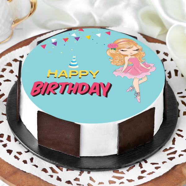 Barbie Birthday Cake (Half Kg)