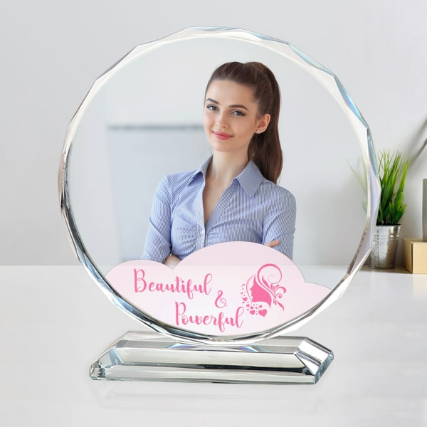 Beautiful Personalized Crystal Photo Stand