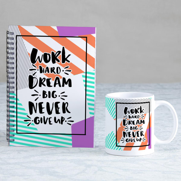 Being Positive Set of Diary & Mug