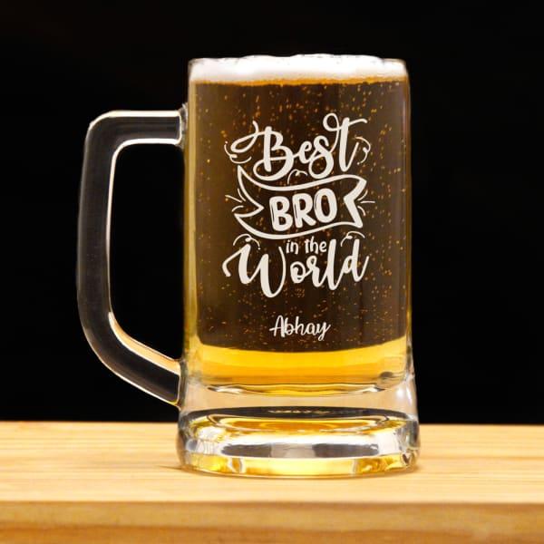 Best Bro Personalized Beer Mug