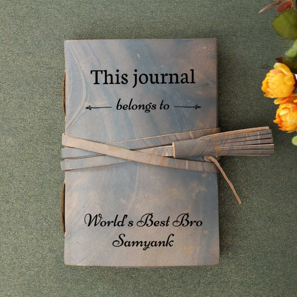 Best Brother Personalized Leather Journal