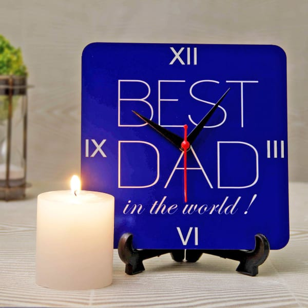 Best Dad Clock with Pillar Candle
