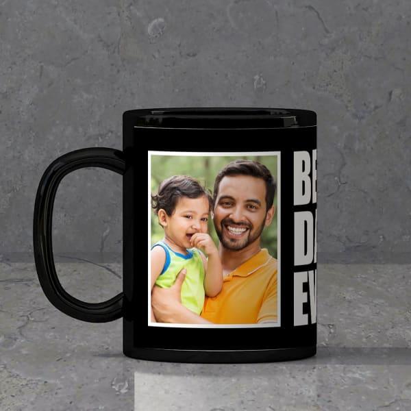 Best Dad Ever Personalized Black Mug