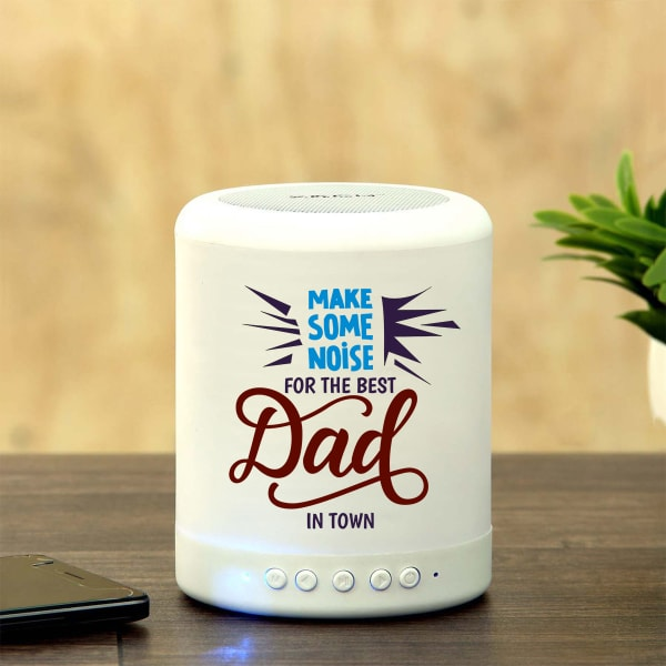 Best Dad Personalized Bluetooth Speaker with LED