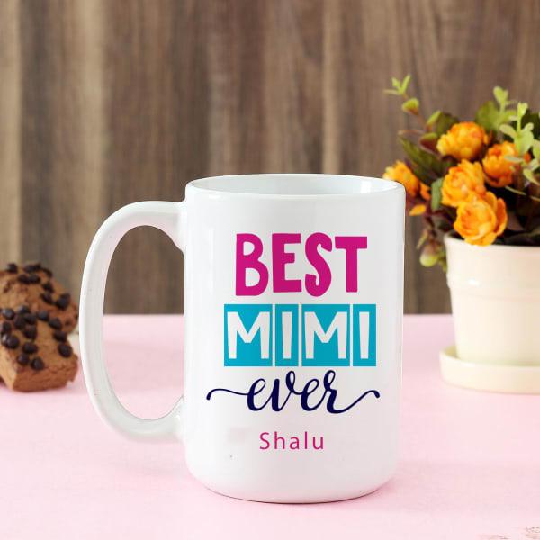 Best Mimi Personalized Large Ceramic Mug