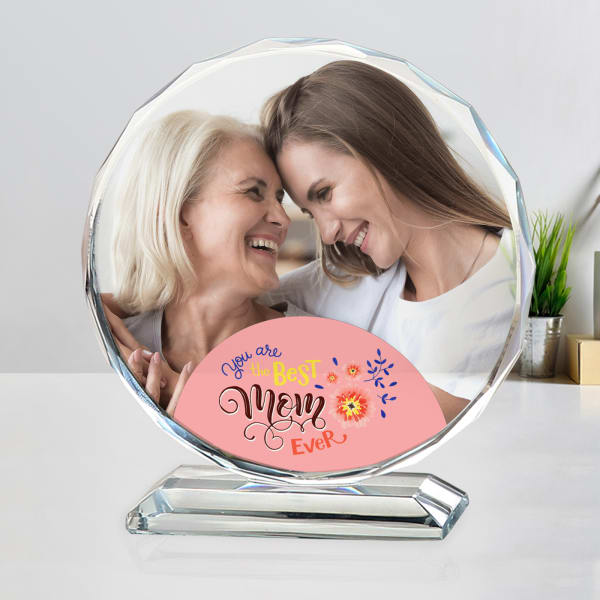 Best Mom Personalized Crystal Photo Stand