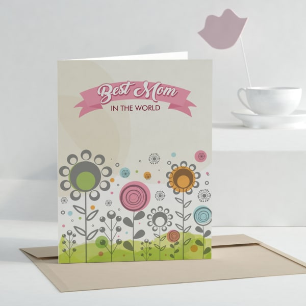 Best Mom Personalized Greeting Card
