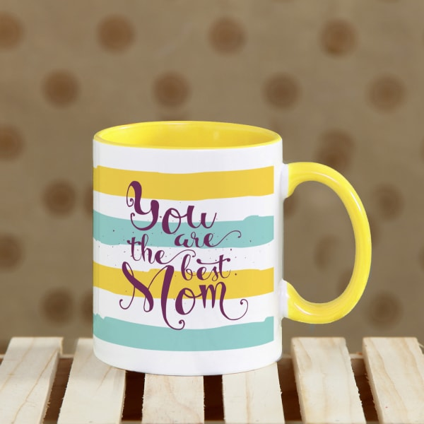 Best Mom Quoted Yellow Mug