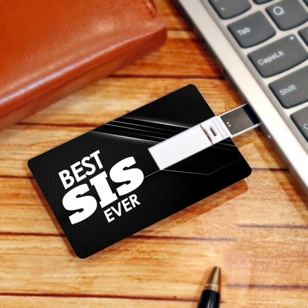 Best Sis Ever Card Pen Drive (64 GB)