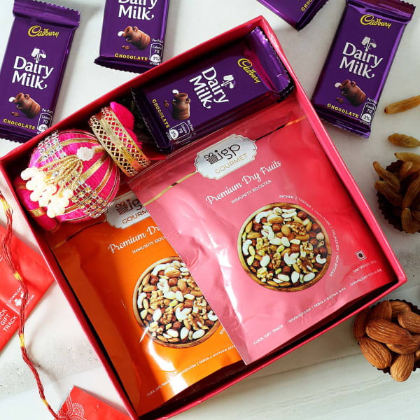 Bhai Dooj Tikka with Chocolate Hamper