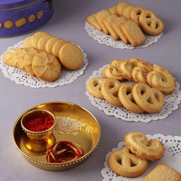 Bhai Dooj Tilak Thali With Butter Cookies
