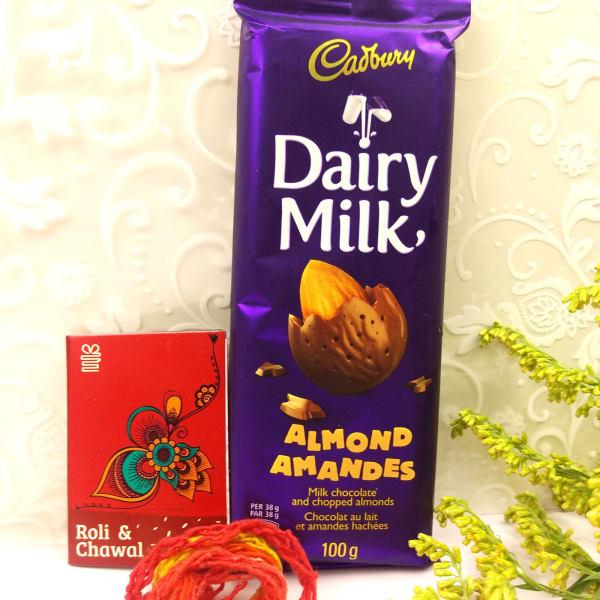 Bhaidooj Tikka with Dairy Milk Chocolate Bar