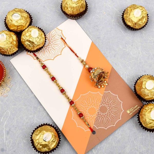 Bhaiya Bhabhi Rakhi with Ferrero Rocher Chocolates (16 Pcs)
