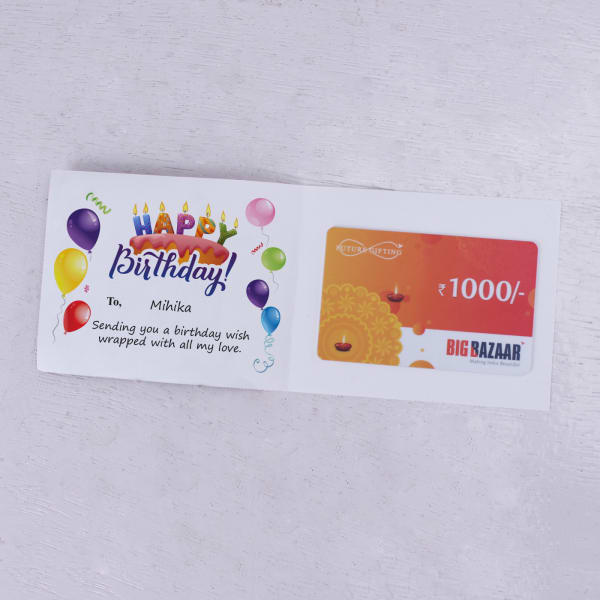 Big Bazaar Personalized Birthday Gift Card 1000