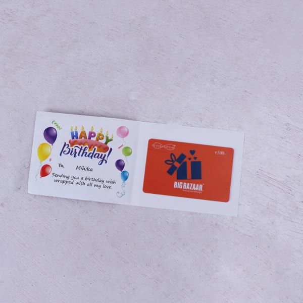 Big Bazaar Personalized Birthday Gift Card 500